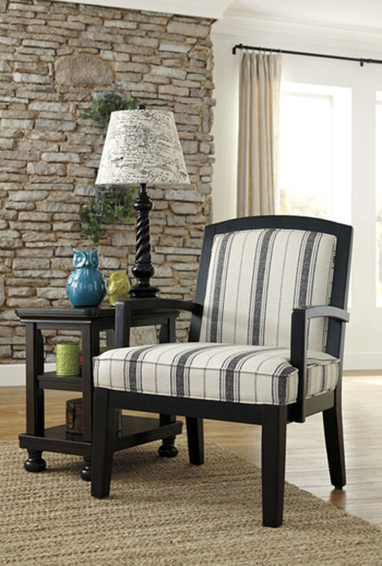 "Striped Casual 28"" Accent Chair"