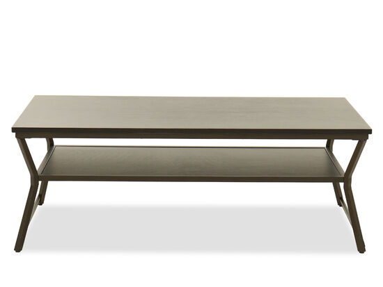 Rectangular Contemporary Coffee Table in Mottled Black