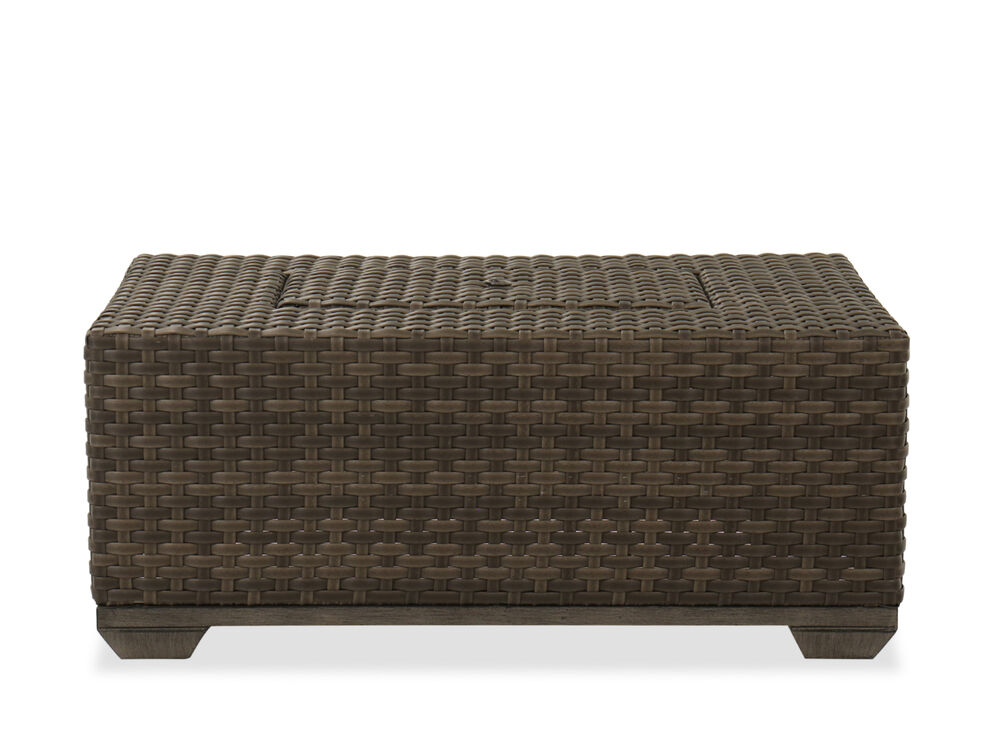 Contemporary Rectangular Patio Coffee Table In Brown Mathis Brothers Furniture