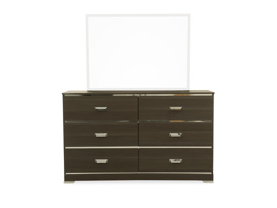 Contemporary Youth Six-Drawer Dresser in Gray