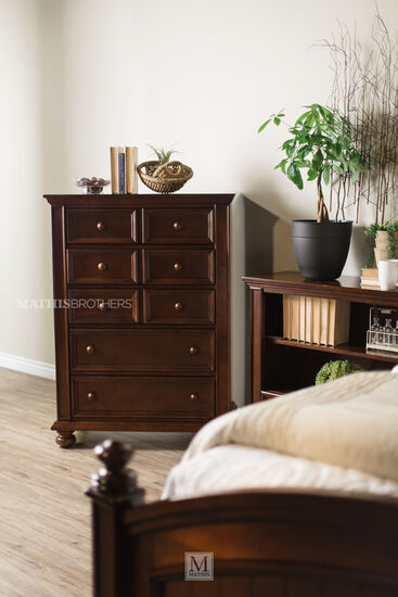 "52"" Five-Drawer Casual Chest in Brown"