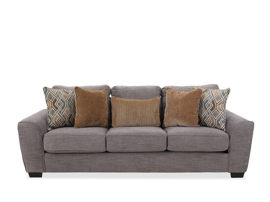 "Contemporary 100"" Sofa in Silver"