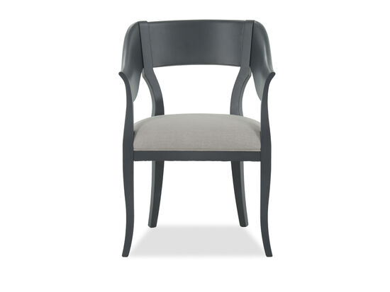 Curved Accent Chair in Black
