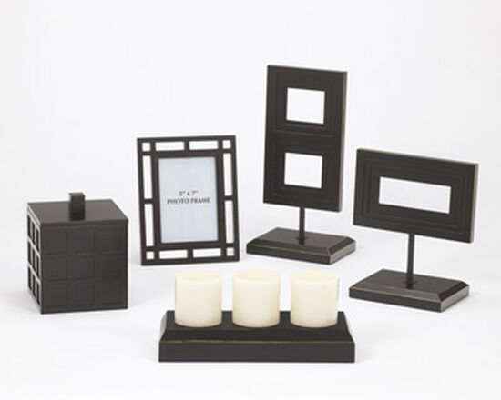 Five-Piece Contemporary Accessories in Black