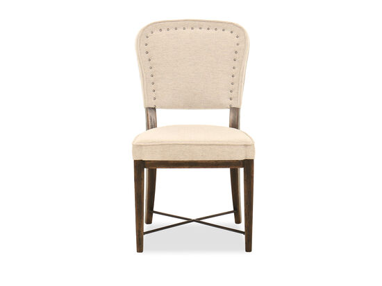 """37.5"""" Nailhead-Accented Side Chair in Merit Dove"""