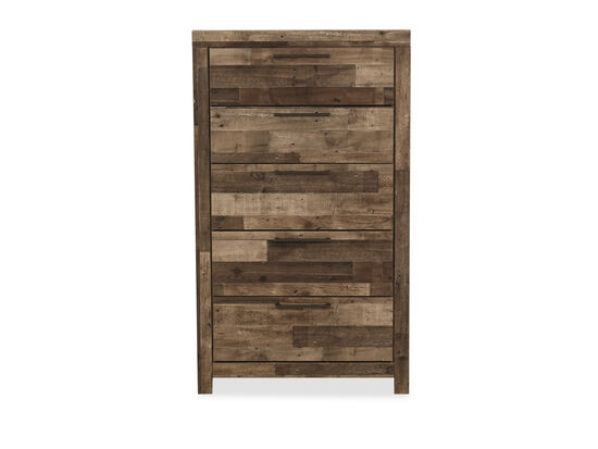 """54"""" Contemporary Five-Drawer Chest in Gray"""