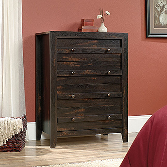 """43"""" Traditional Four-Drawer Chest in Char Pine"""