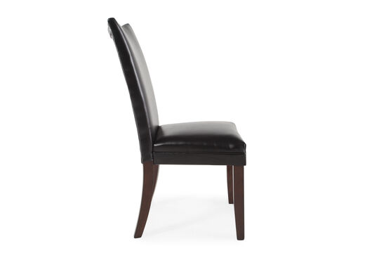Two-Piece Contemporary 40'' Side Chair Set in Black