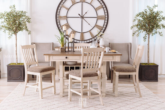 """Rake-Back Solid Wood 42"""" Bar Stool in Antique White"""