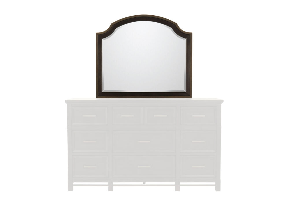 "38"" Contemporary Beveled Mirror in Midnight Mink"