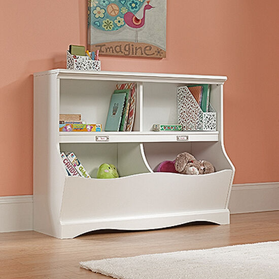 Casual Bookcase/Footboard in Soft White