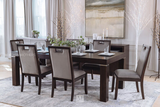 "Rectangular Contemporary 42"" Dining Table in Espresso"