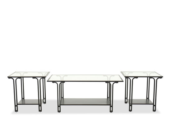 Three-Piece Cocktail Table Set in Black