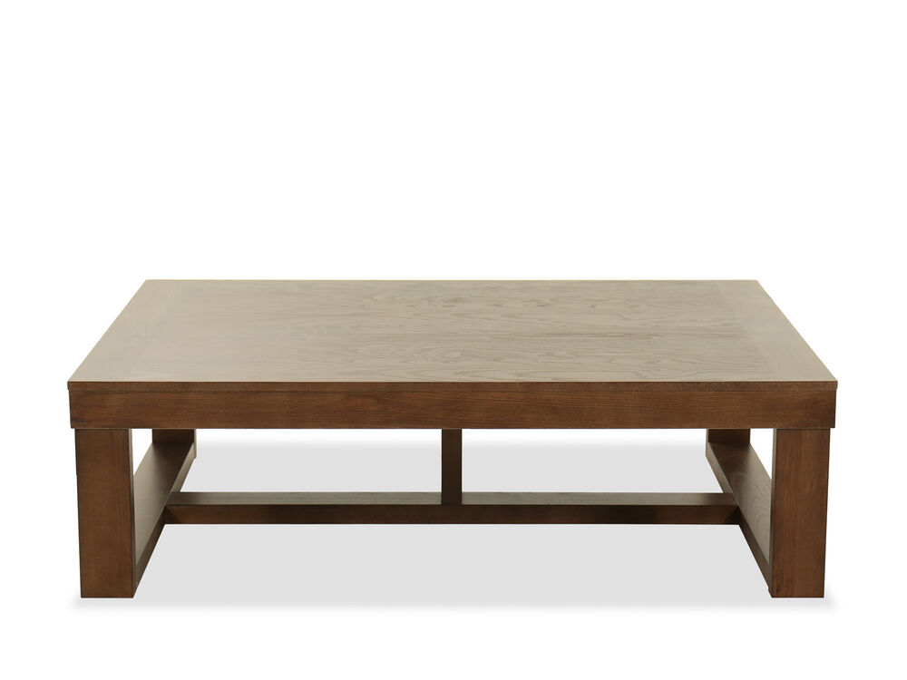 56 Wood Top Cocktail Table In Brown Mathis Brothers Furniture