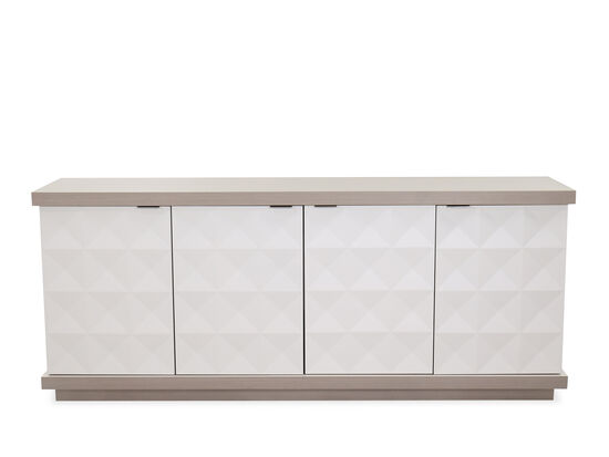 "Transitional 78.5"" Buffet in Linear White"