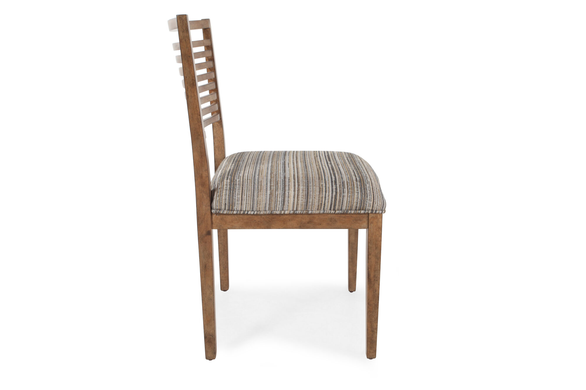 Slat Back Contemporary 20 Quot Chair In Brown Mathis