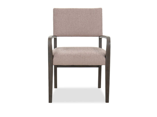 """Transitional 24"""" Stationary Arm Chair in Flaky Oak"""