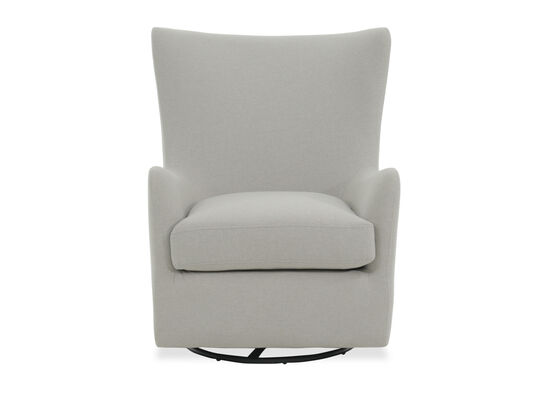 "Casual 31"" Glider Accent Chair in Light Gray"