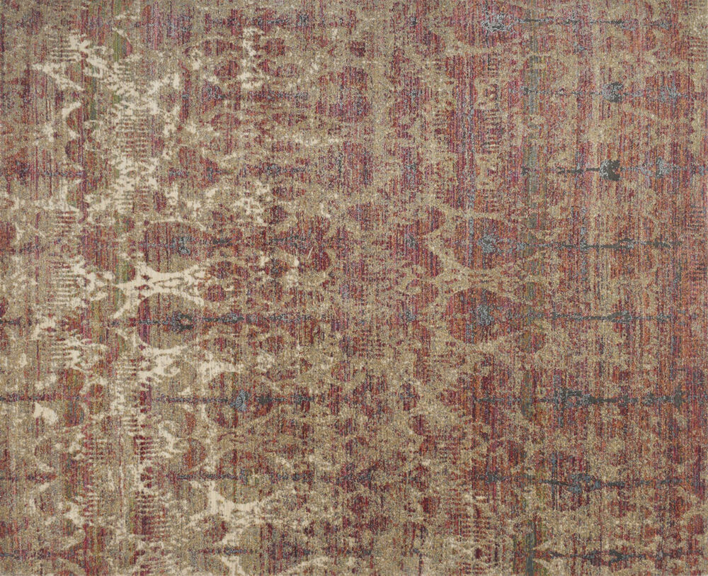 Loloi Javari Power Loomed Rug in Drizzle/Berry