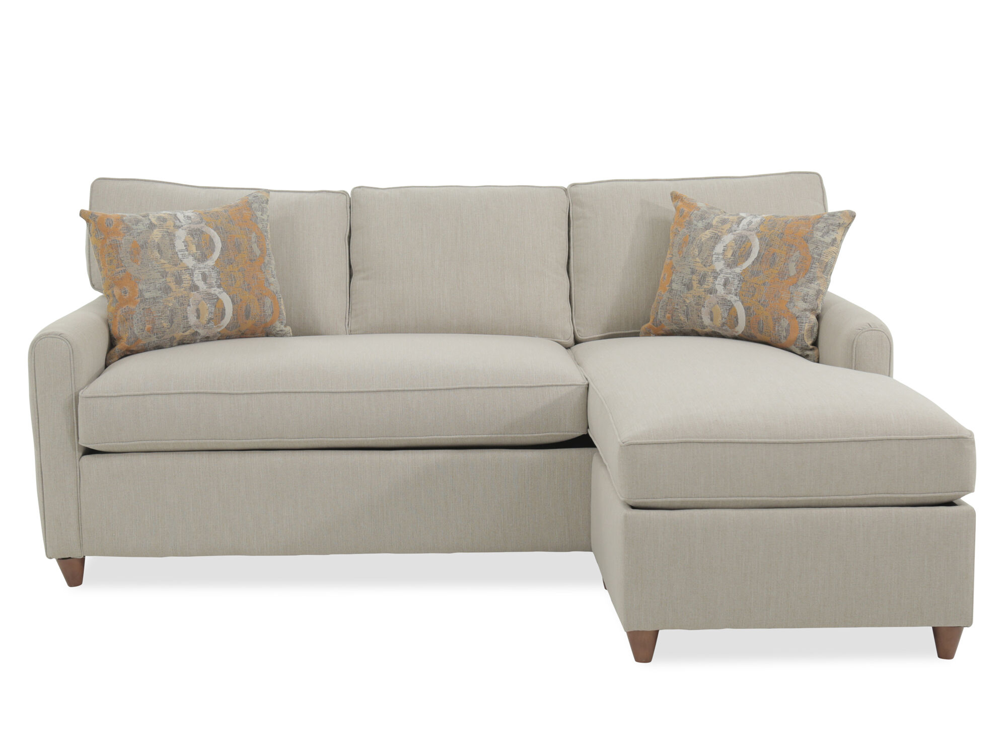 Two Piece Casual Sleeper Sectional In Cream ...