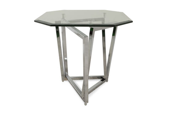 Octagonal Contemporary End Table in Chrome
