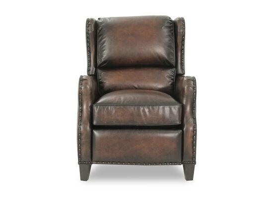 "Leather 30"" Pressback Reclinerin Brown"