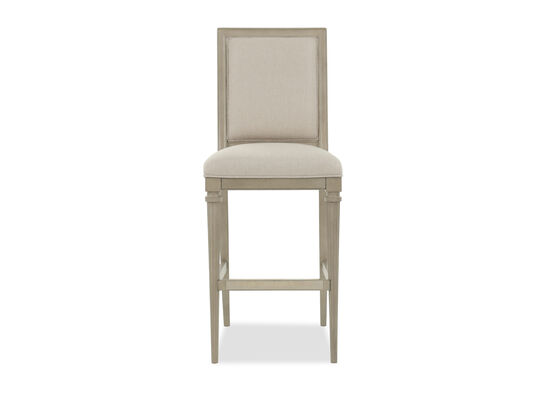"Modern 48.5"" Armless Bar Stool in Blake Gray"