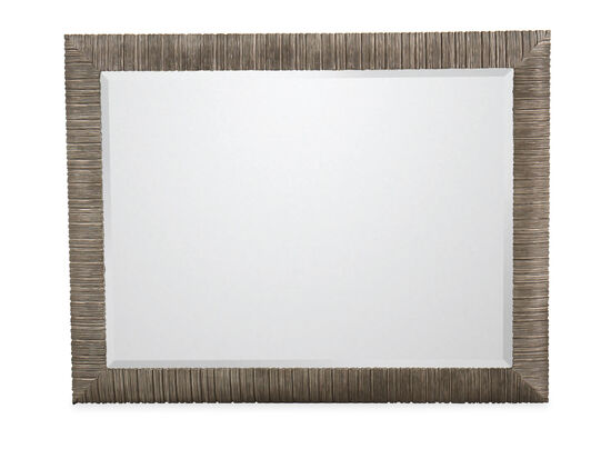 "39"" Casual Rectangular Accent Mirror in Oak"