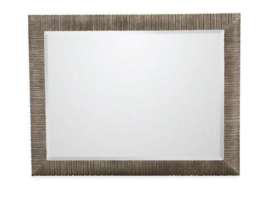 "39"" Casual Rectangular Accent Mirror in Oak"