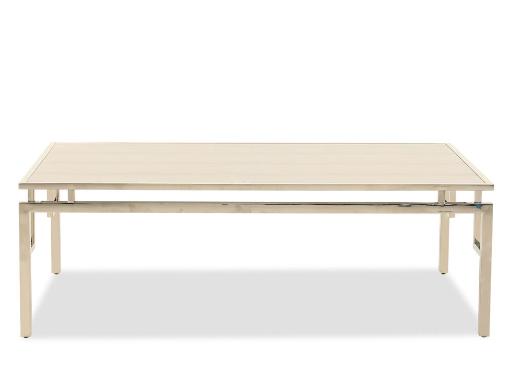 Contemporary Rectangular Cocktail Table in Silver