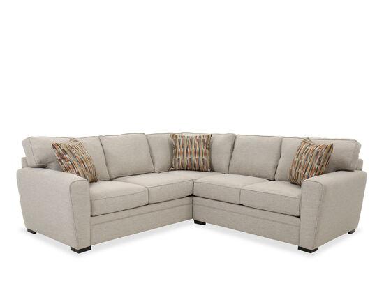 Two Piece Sectional In Heather Gray, Jonathan Louis Sleeper Sofa