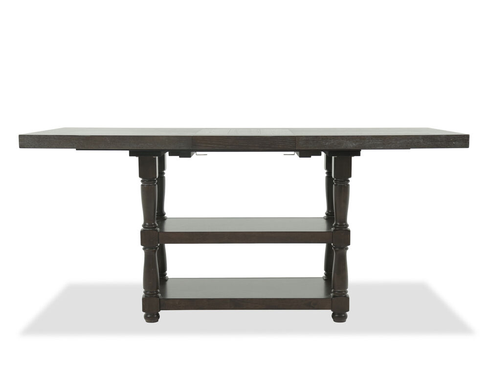 "Contemporary 76"" to 96"" Trestle Dining Table in Espresso"