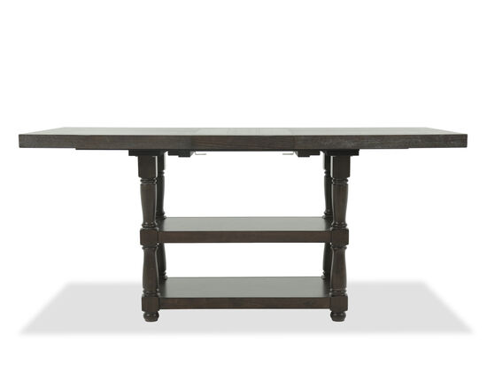 "Contemporary 76"" to 96"" Trestle Dining Table in Espresso"