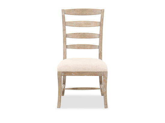 """Casual 41.5"""" Ladder-Back Side Chair in Beige"""