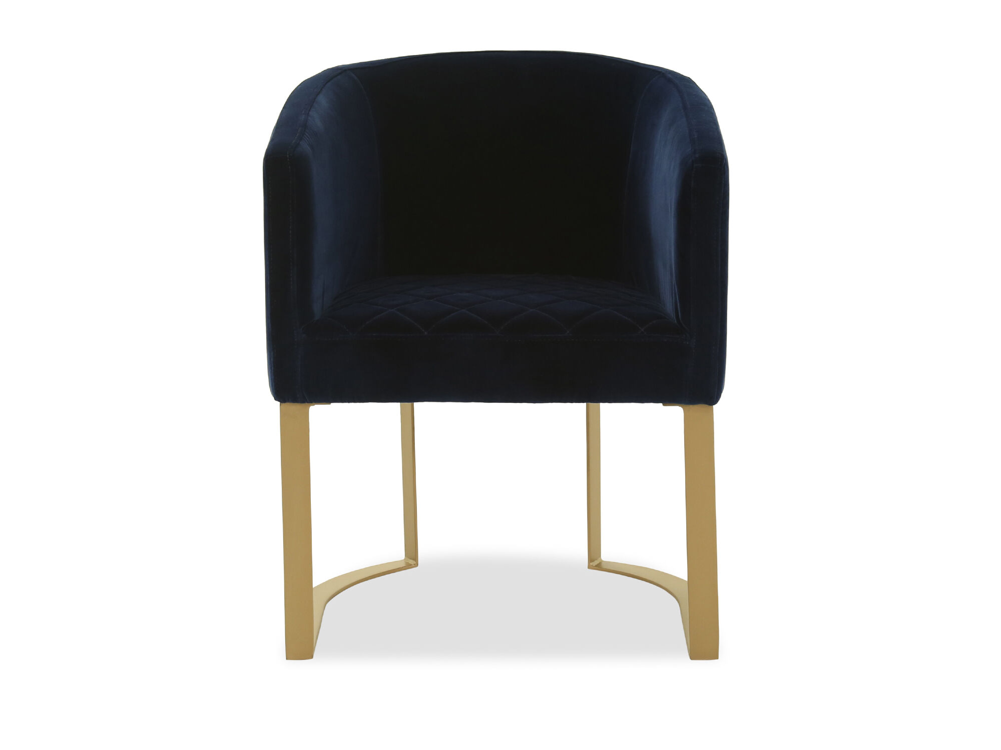 Modern Velvet Accent Chair In Blue Mathis Brothers Furniture