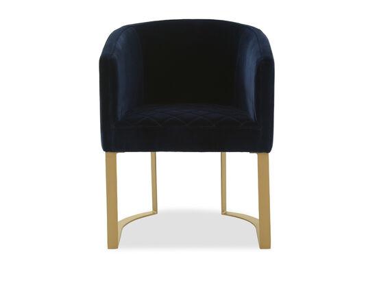 """25"""" Modern Velvet Accent Chair in Blue"""