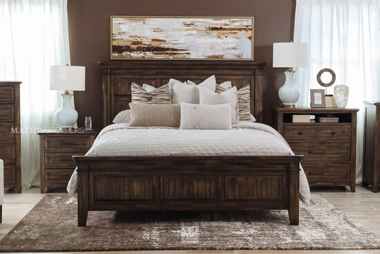 Contemporary King Panel Bed in Birch Gray