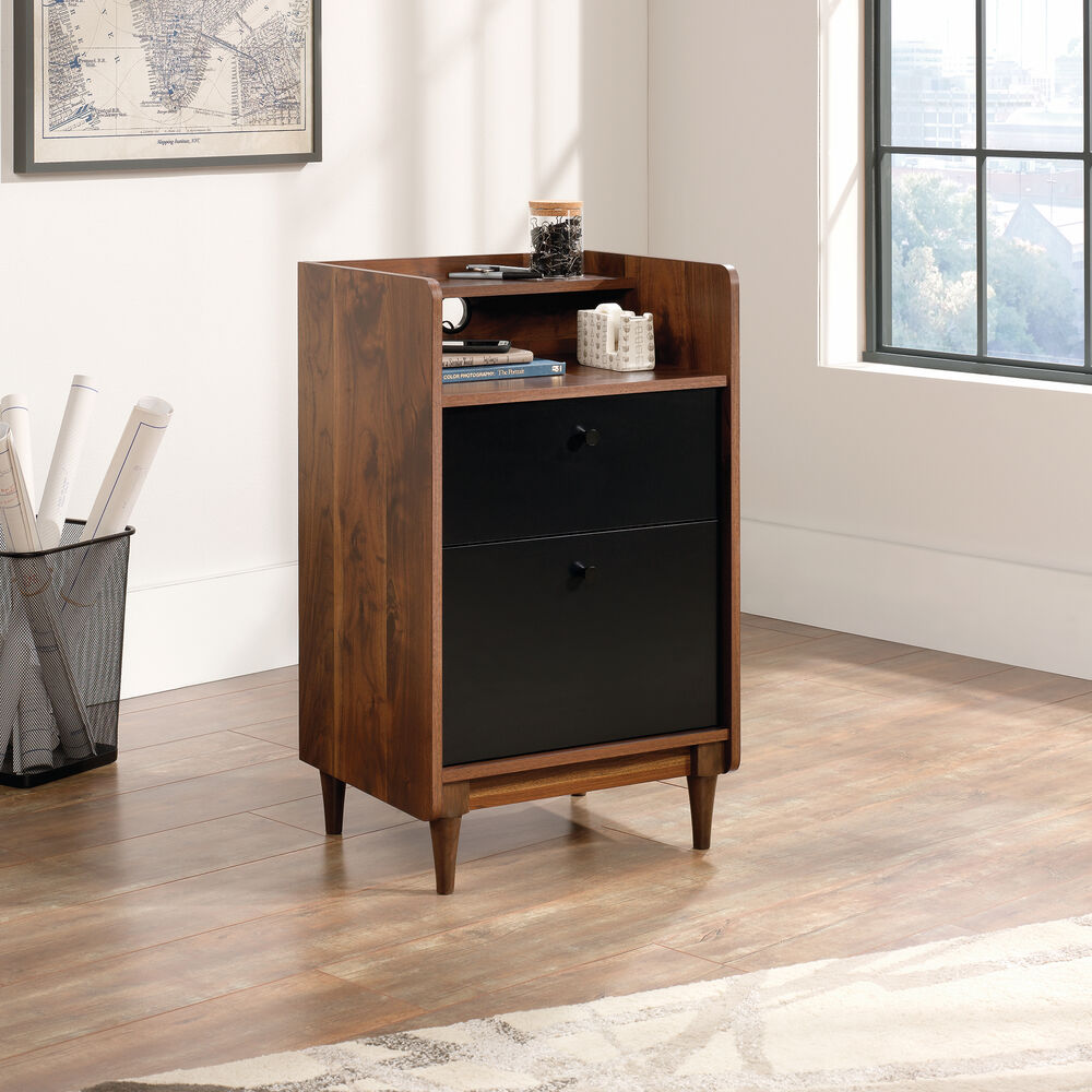 Two-Drawer Casual Stand in Walnut