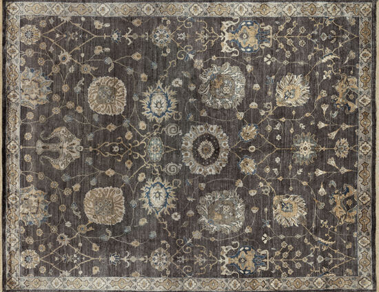 "Loloi Hand Knotted 5'6''x 8'6"" Rug in Frost/Gray"
