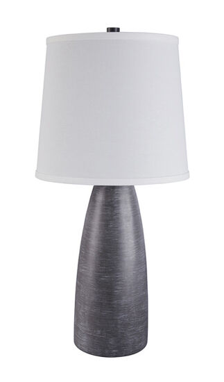 Contemporary Bullet Table Lamp in Gray
