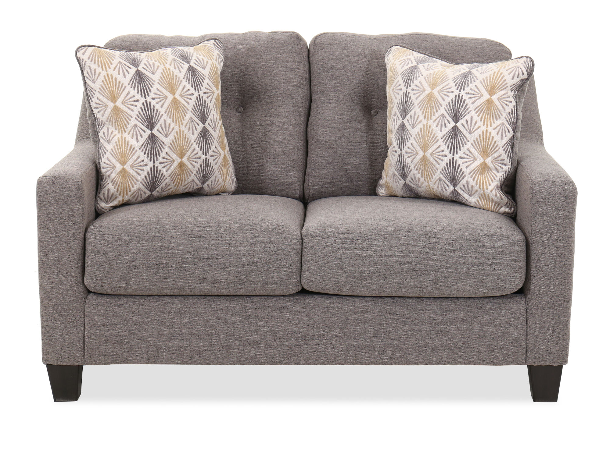 Button Tufted Contemporary 56 Quot Loveseat In Graphite