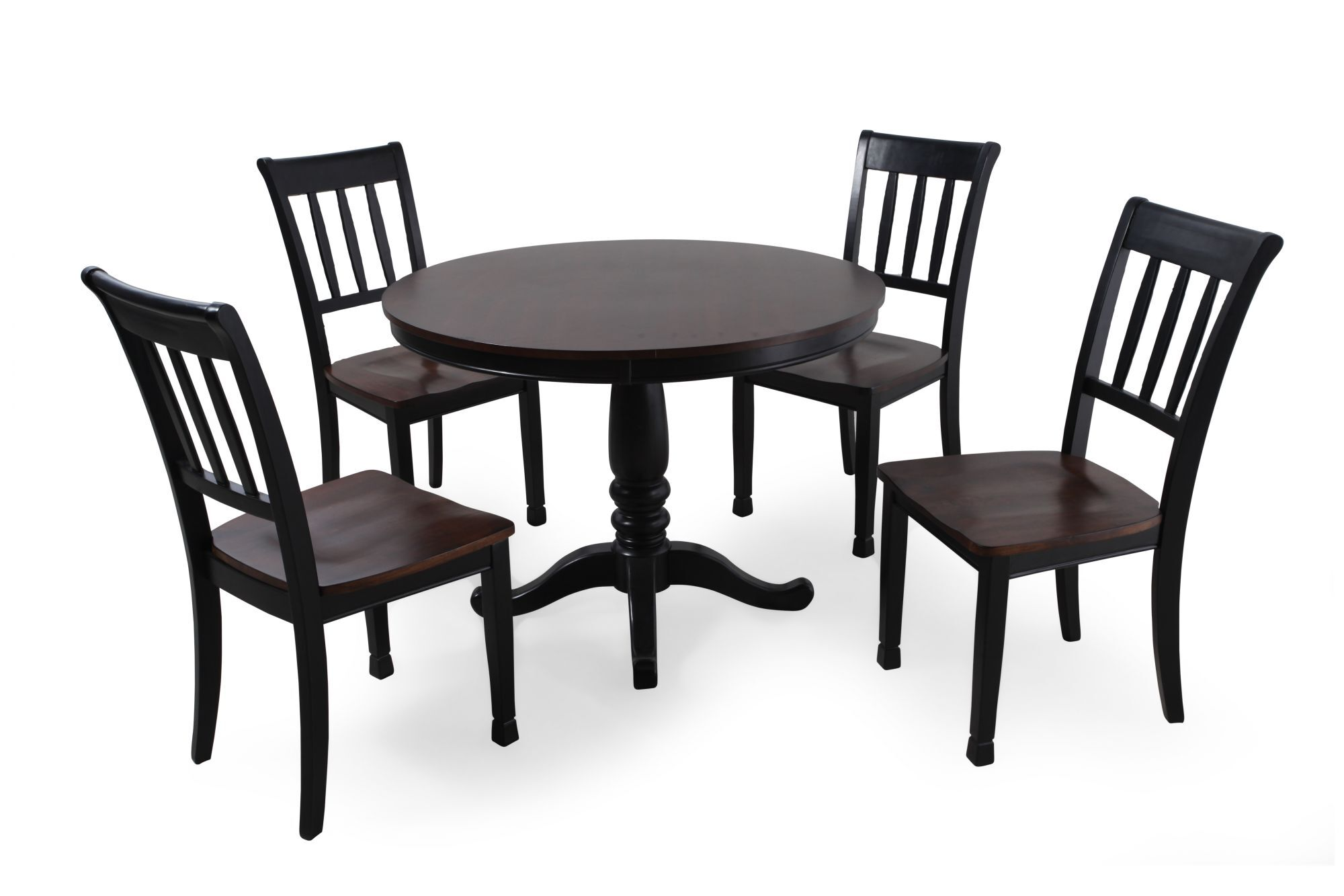 Five piece casual round 42 dining set in