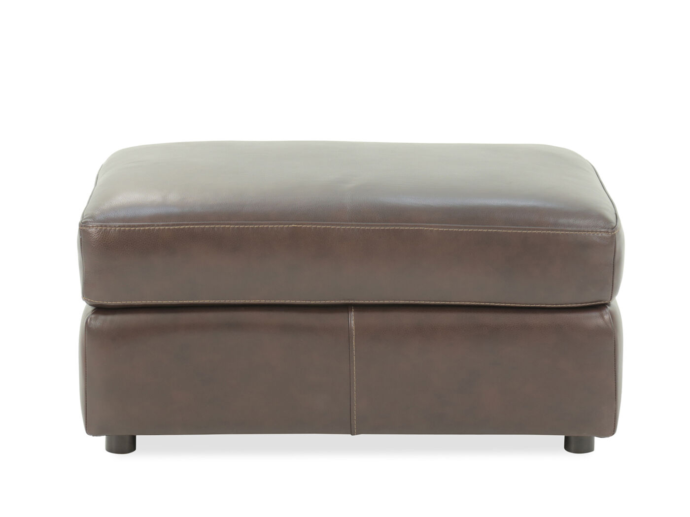 """Industrial 38"""" Leather Ottoman In Brown  Mathis Brothers. Gray Nursery. Recessed Lighting Placement. Teal Living Room Ideas. Shelfgenie. Four Brothers. King Size Headboards. Carolina Stone. Rustic Entertainment Centers"""
