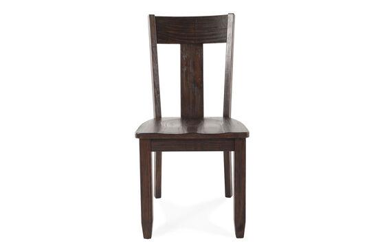 Two-Piece Splat Back 38'' Dining Chair Set in Dark Pine