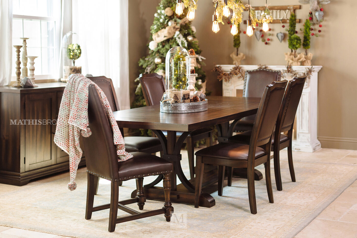Casual 102 to 126 rectangular trestle table in dark for Dining room tables montreal