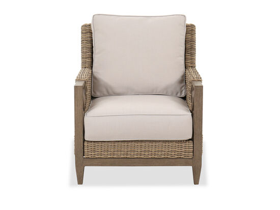 Traditional Outdoor Club Chair in Brown