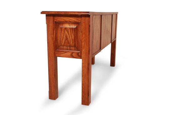 Two Door Country Sofa Table In Golden Oak