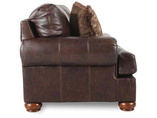 "Traditional 100"" Sofa in Dark Walnut"