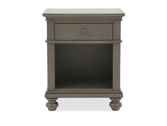 "30"" Transitional One-Drawer Nightstand in Peppercorn Gray"