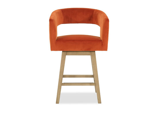 Contemporary Counter Stool in Orange